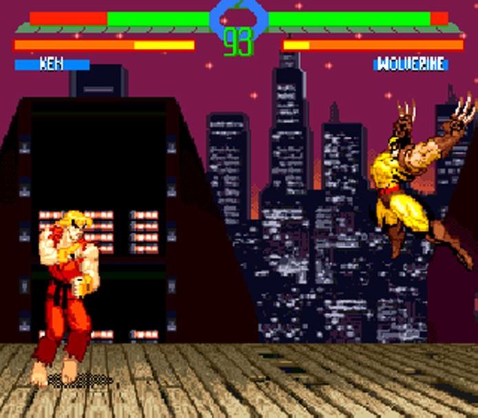 X-Men vs Street Fighter foi mal adaptado para o Super Nintendo (Foto: Reprodução)