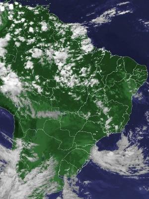 Chuvas com trovoadas são esperadas para o domingo (27) (Foto: Divulgação/Inpe)
