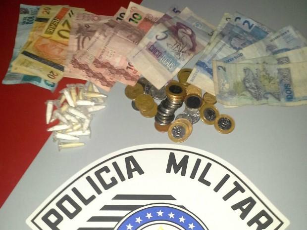 Em Laranjal Paulista, homem foi flagrado na Vila Zalla (Foto: Divulgação / Polícia Militar de Laranjal Paulista)
