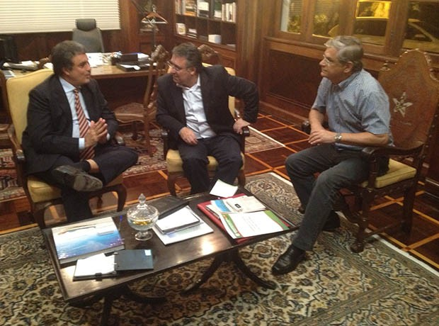 Colombo se reúne com ministro da Justiça em Florianópolis (Foto: Daniel/RBS TV)