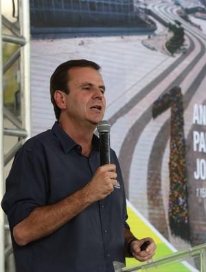 Eduardo Paes Parque Olímpico Rio 2016 - 1 ano para os Jogos (Foto: Beth Santos)