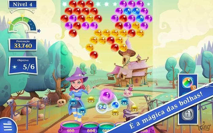 Bubble Witch Saga 2 é o novo jogo da produtora de Candy Crush Saga (Foto: Divulgação)