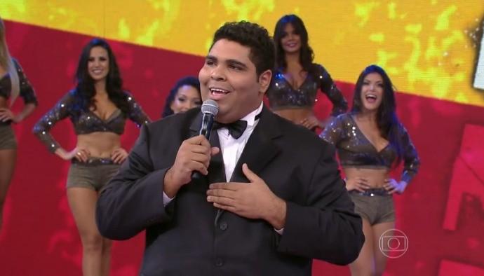 Humorista Paulo Vieira arrancou risadas no Domingão do Faustão (Foto: Gshow)