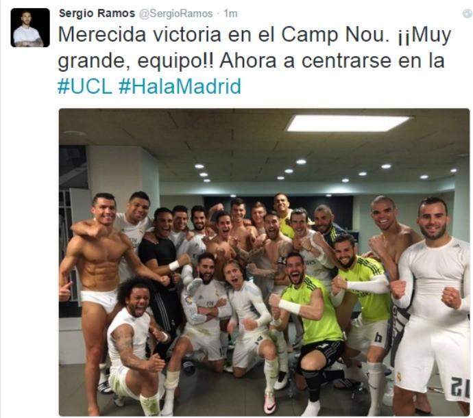 BLOG: Sergio Ramos publica foto no vestiário com Cristiano Ronaldo de cueca