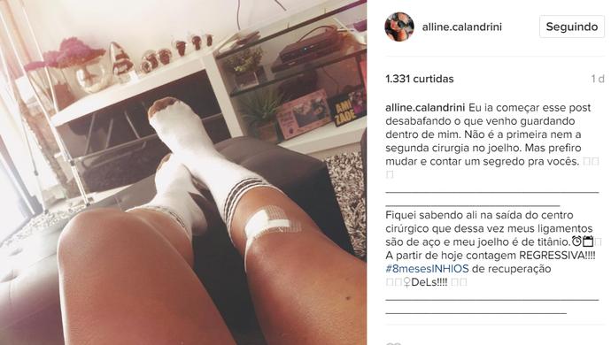 Alline Callandrini; Futebol (Foto: Reprodução/Instagram )