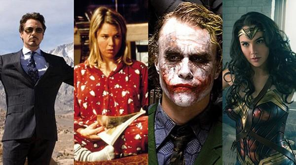 Homem de Ferro, Bridget Jones, Coringa, Mulher-Maravilha (Foto: Divulgação)