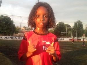 André Marcos tem sete anos  (Foto: Edson Reis/GloboEsporte.com)