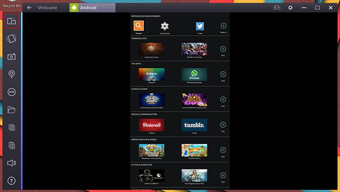BlueStacks pode ter orientação de tela modificada pelo usuário através de novo botão (Foto: Reprodução/Elson de Souza)