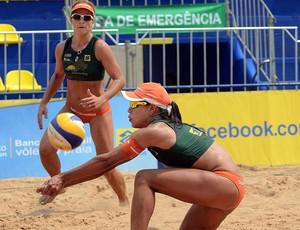 Juliana e Larissa volei de praia cuiabá (Foto: Divulgação / CBV)