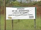 Interdição da SP-139 para obras gera reclamações em São Miguel Arcanjo