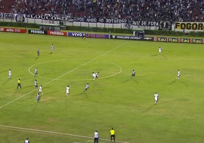 Trecho Botafogo Atlético-PR (Foto: Reprodução/Premiere)