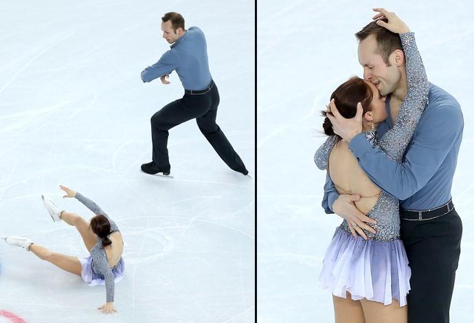 Olimpiadas de Inverno Sochi - Montagem Daniel Wende e Maylin: queda e beijo na patinação artística (Foto: Getty Images)