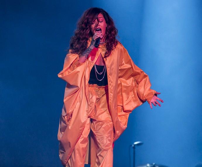 Rihanna fechou o Palco Mundo no Rock In Rio na madrugada deste domingo, 27 (Foto: Felipe Monteiro/Gshow)