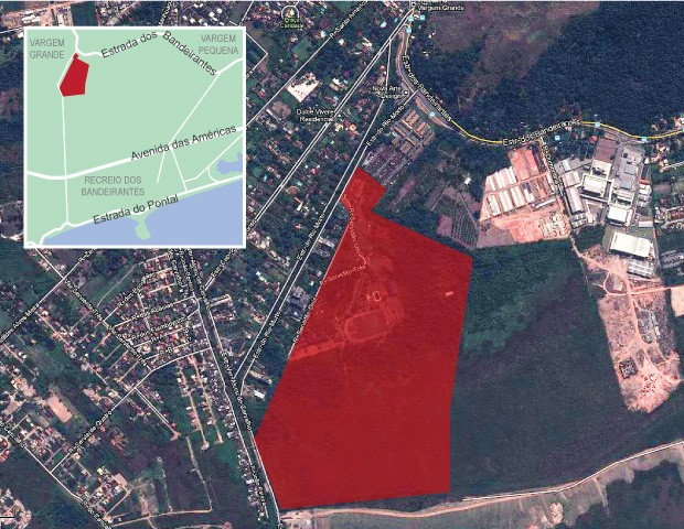 info localização CT Vasco Botafogo (Foto: arte esporte)