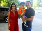 Fernanda Pontes faz festa para o filho, Matheus, no Rio