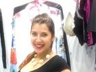 Priscila Pires mostra barriguinha de cinco meses