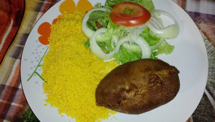Miguel da Buchada revela segredo do prato popular piauiense (Foto: Gshow Rede Clube)