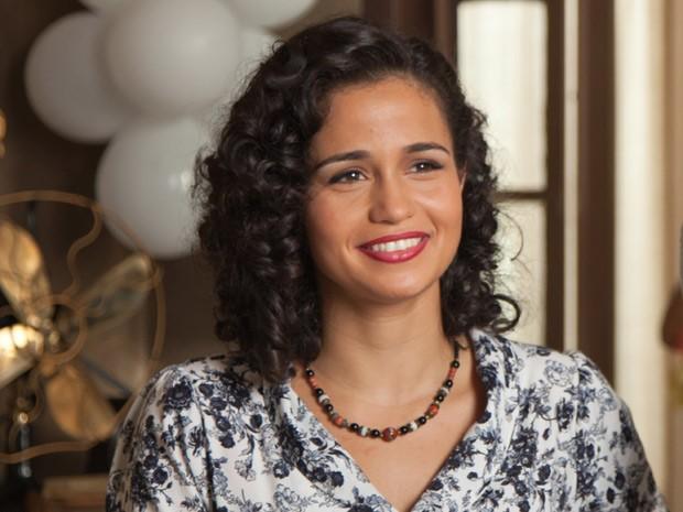 Nanda Costa como Odaléia, esposa de Luiz Gonzaga e mãe de Gonzaguinha (Foto: Divulgação/TV Globo )