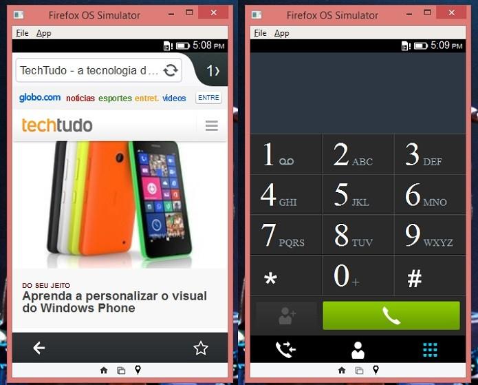 Simulador tem navegador funcional (Foto: Thiago Barros/TechTudo)