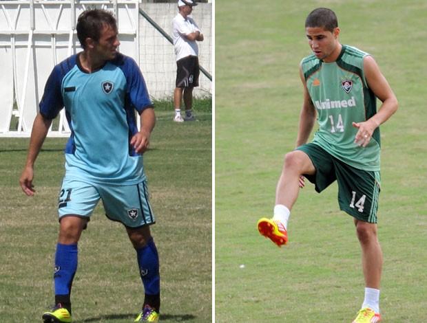 Lucas Botafogo Bruno Fluminense (Foto: Montagem sobre foto da Photocâmera)