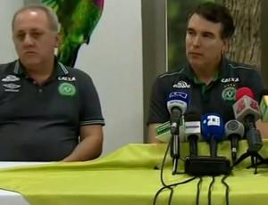 Carlos Mendonça Edson Stakonski médicos Chapecoense coletiva (Foto: Reprodução SporTV)