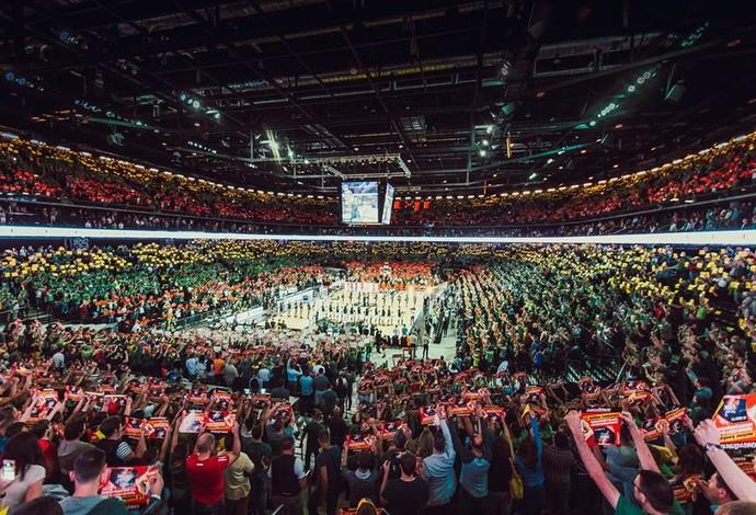 A arena do Zalgiris Kaunas inaugurada em 2011 durante o amistoso entre Lituânia e Espanha antes dos Jogos do Rio (Foto: Reprodução/Facebook)