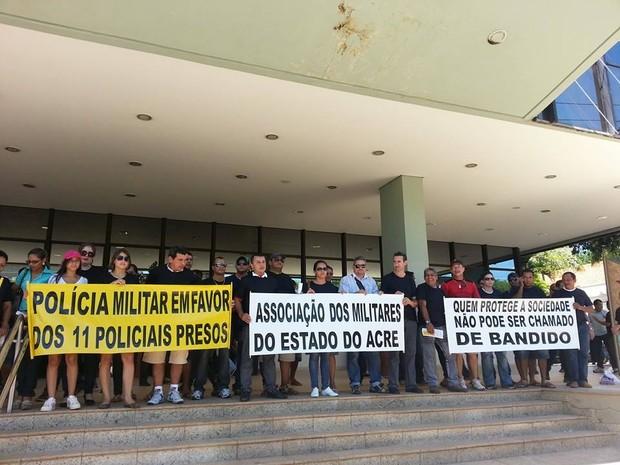 Protesto Policiais Militares (Foto: Saimo Martins/ Arquivo pessoal)