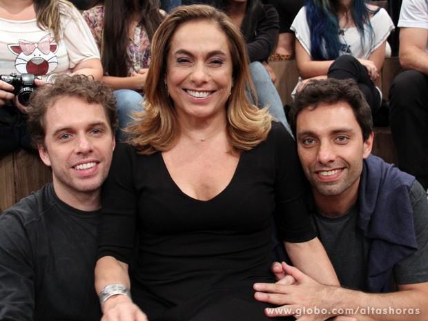 João Velho, Cissa Guimarães e Thomáz participam do Altas Horas (Foto: TV Globo/Altas Horas)