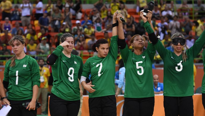 Brasil x China goalball semifinal choro paralimpíada rio 2016 (Foto: André Durão)