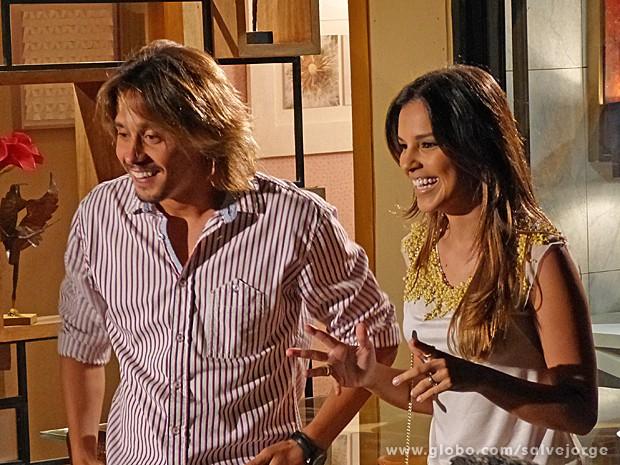 Drika conta que está grávida (Foto: Salve Jorge/TV Globo)