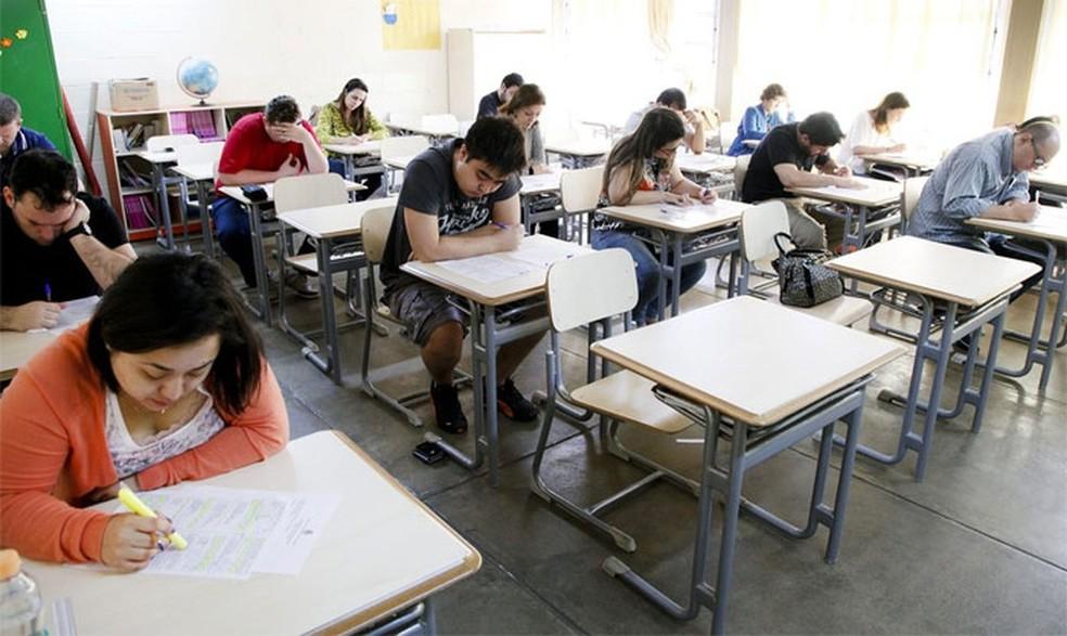 Candidatos fazem prova de concurso público em Santa Bárbara d'Oeste (SP) (Foto: Arquivo/Prefeitura de Santa Bárbara d'Oeste)