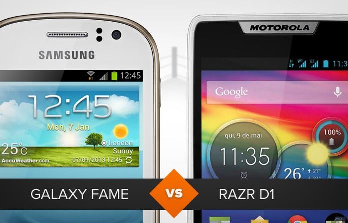 Galaxy Fame versus Razr D1 (Foto: Arte/ TechTudo)