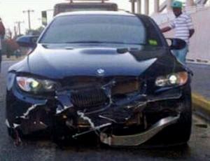 carro batida acidente usain bolt (Foto: Reprodução / Twitter)