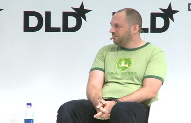 Jan Koum, criador do WhatsApp, durante conferência em Munique, na Alemanha. (Foto: Divulgação/DLD)