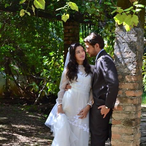Carolina Oliveira e Alejandro Claveaux (Foto: Divulgação)