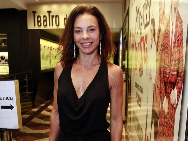 Carla Marins em estreia de peça na Zona Sul do Rio (Foto: Marcos Ferreira/ Brazil News)