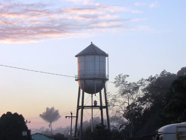 Duas caixas d'águas foram instaladas pelos americanos (Foto: Divulgação/Prefeitura de Belterra)