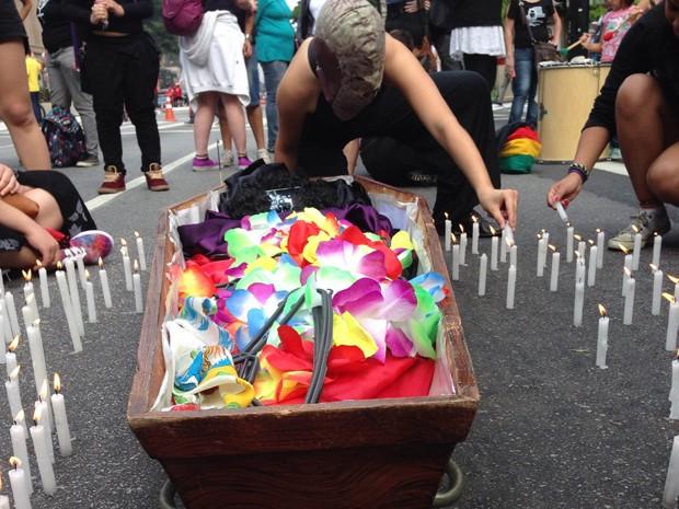 Ato contra criminalização do aborto em SP (Foto: Carolina Moreno/G1)