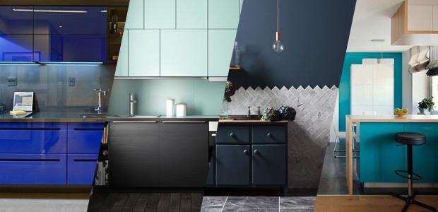 Cozinhas azuis (Foto: Casa Vogue)