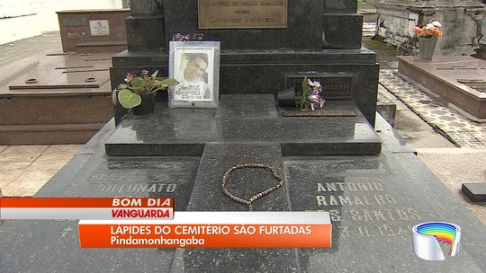 Túmulos do cemitério de Pindamonhangaba são alvos de criminosos