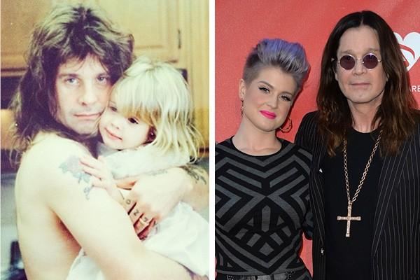 Ozzy Osbourne e Kelly Osbourne no início dos anos 80 (Foto: Reprodução / Instagram)
