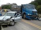 Onze pessoas morrem em acidentes de trânsito no fim de semana em SC
