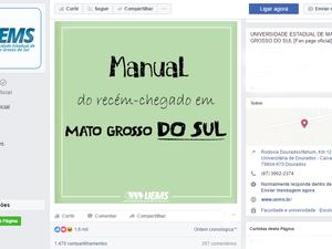 Na web, universidade de MS viraliza com tutorial sobre tereré a iniciantes (Foto: Reprodução/TV Morena)