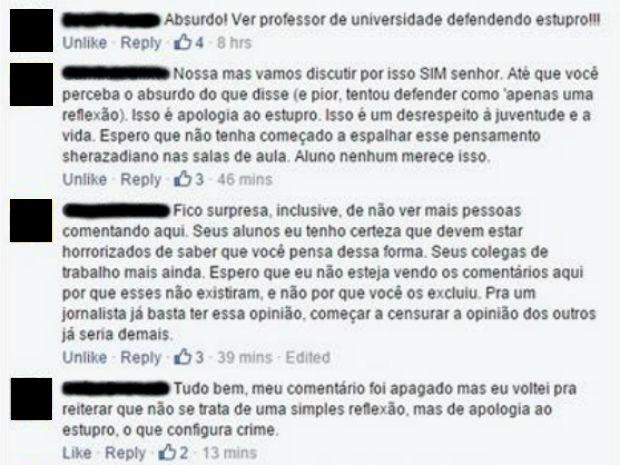 Comentários na publicação de Lannes (Foto: Reprodução/Facebook)