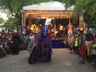 Bois de Carnaval desfilam pelas ruas do bairro da Levada, em Maceió