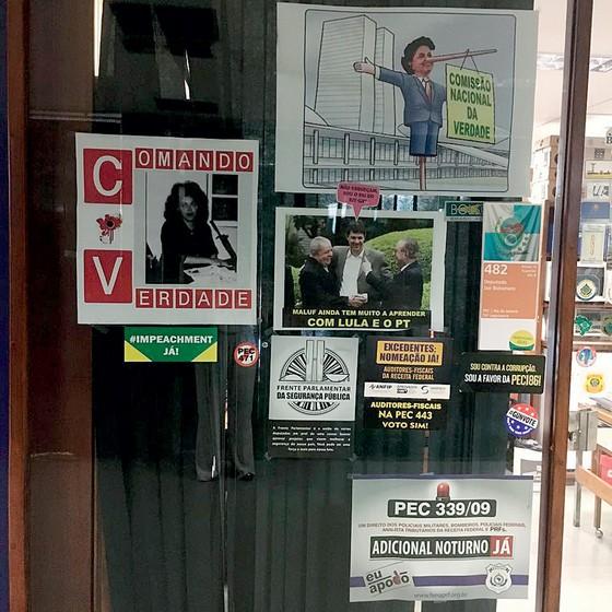 Vidraça de seu gabinete  em Brasilia (Foto: Flávia Tavares/ÉPOCA)