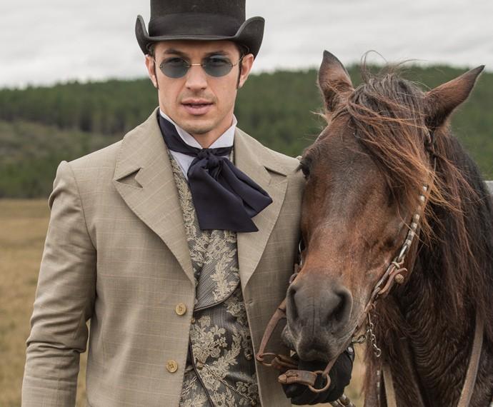 Rômulo Estrela revela que adora cavalos (Foto: Fábio Rocha/Gshow)