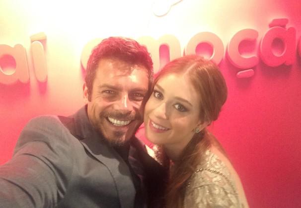 Selfie Luigi Baricelli e Marina Ruy Barbosa (Foto: Luigi Baricelli)