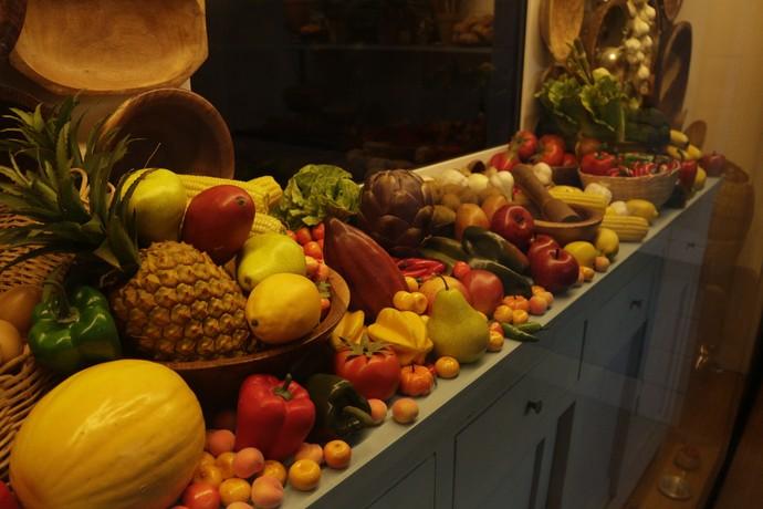 Frutas e verduras (Foto: Luan Esquivel/TV Bahia)