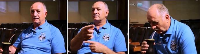 Felipão toma chimarrão e fala sobre Gre-Nal (Foto: Reprodução/GrêmioTV)